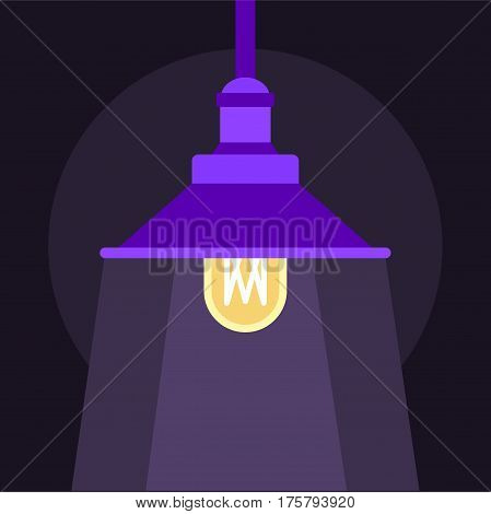 Hanging lantern icon. Flat illustration of hanging lantern vector icon for web