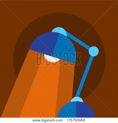 Bright table lamp icon. Flat illustration of bright table lamp vector icon for web