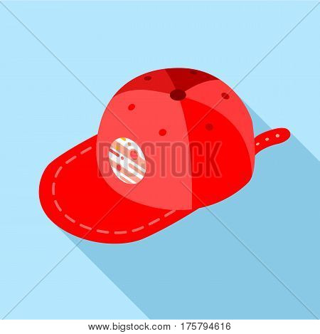 Cap icon. Flat illustration of cap vector icon for web