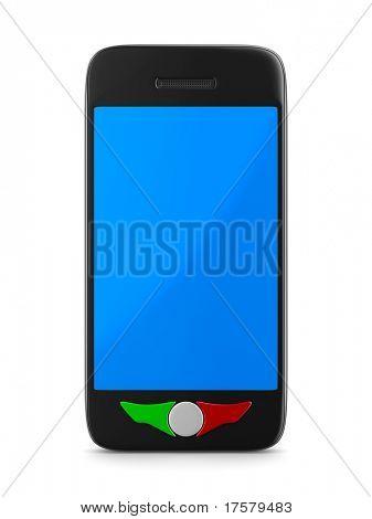 phone on white background. Isolated 3D image