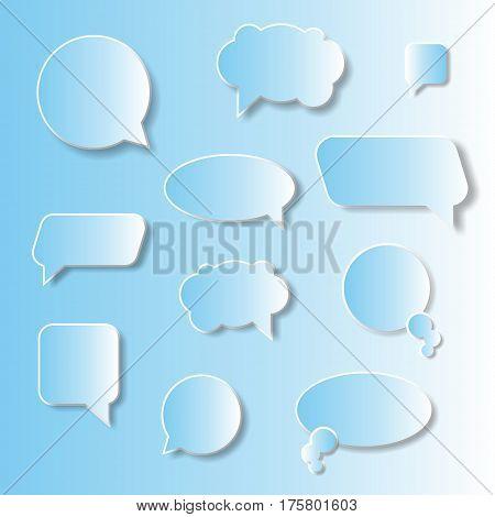 vector speech bubble, vector cloud, Think and talk