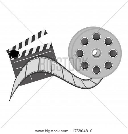 color clapper board film and film production icon, vector illustraction design