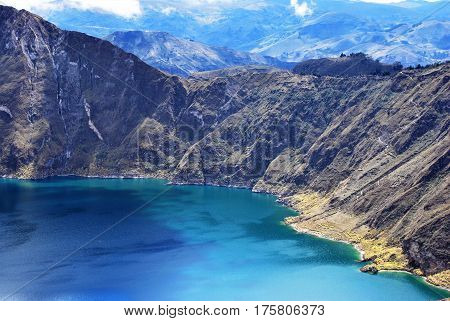 Quilotoa, Ecuador Quilotoa is a Water filled Caldera in Ecuador