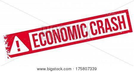 Economic Crash rubber stamp. Grunge design with dust scratches. Effects can be easily removed for a clean, crisp look. Color is easily changed.