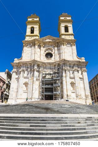 St Anne's Church Cagliari, Sardinia Island, Italy