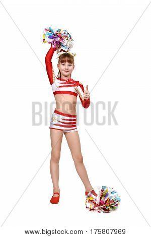 Cheerleader Girl Showing Thumb Up