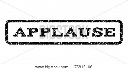 Applause watermark stamp. Text caption inside rounded rectangle frame with grunge design style. Rubber seal stamp with unclean texture. Vector black ink imprint on a white background.