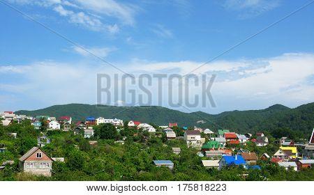 Countryside village hill mountain nature landscape photo