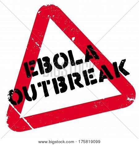 Ebola Outbreak rubber stamp. Grunge design with dust scratches. Effects can be easily removed for a clean, crisp look. Color is easily changed.