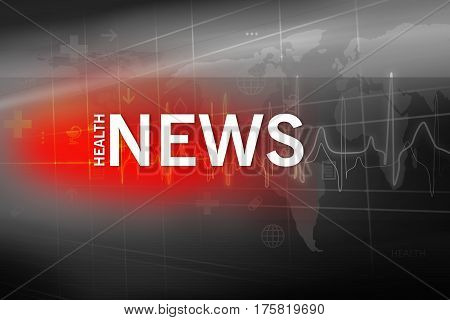 Medical Abstract Background Suitable for Healthcare and Medical News Topic. 3d illustration 3d render