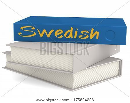 Hard Cover Blue Books With Swedish Word