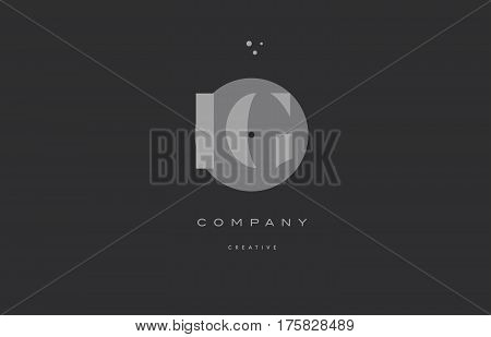 Ig I Q  Grey Modern Alphabet Company Letter Logo Icon