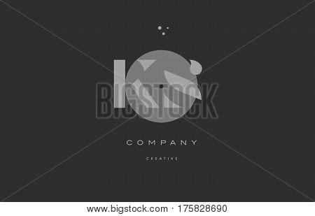Ks K S  Grey Modern Alphabet Company Letter Logo Icon