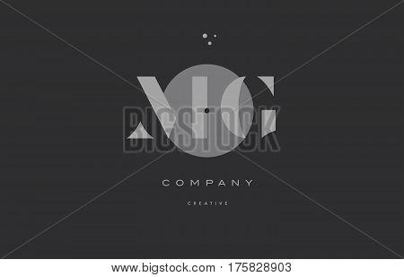 Mg M G  Grey Modern Alphabet Company Letter Logo Icon