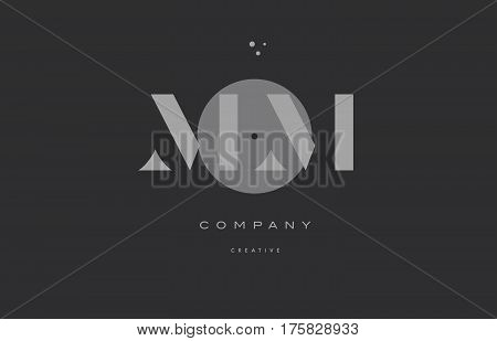 Mm M M  Grey Modern Alphabet Company Letter Logo Icon