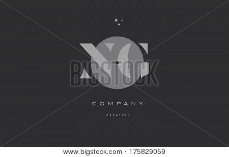 Ng N G  Grey Modern Alphabet Company Letter Logo Icon