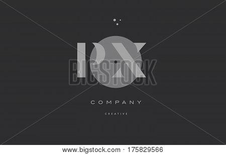 Px P X  Grey Modern Alphabet Company Letter Logo Icon