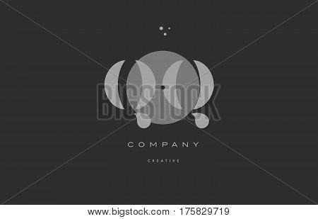 Qq Q Q  Grey Modern Alphabet Company Letter Logo Icon