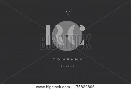 Rc R C  Grey Modern Alphabet Company Letter Logo Icon