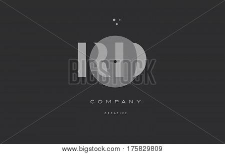 Rd R D  Grey Modern Alphabet Company Letter Logo Icon