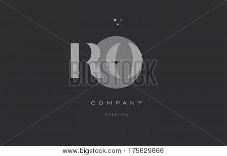 Rn R N  Grey Modern Alphabet Company Letter Logo Icon