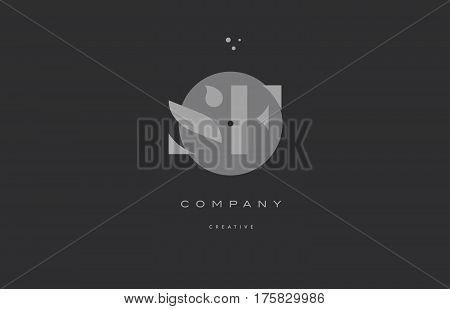 Sf S F  Grey Modern Alphabet Company Letter Logo Icon