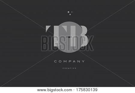 Tb T B  Grey Modern Alphabet Company Letter Logo Icon
