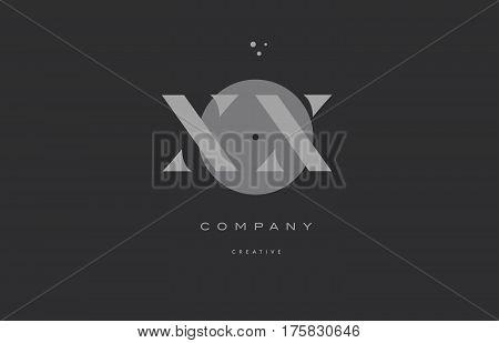 Xx X X  Grey Modern Alphabet Company Letter Logo Icon