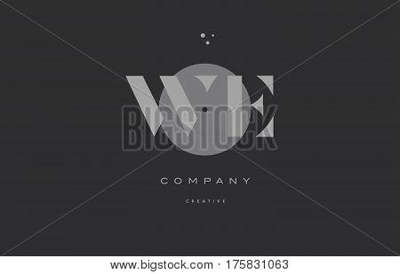 We W E  Grey Modern Alphabet Company Letter Logo Icon