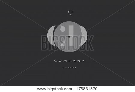 Cd C D  Grey Modern Alphabet Company Letter Logo Icon