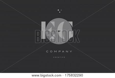 Eg E G  Grey Modern Alphabet Company Letter Logo Icon