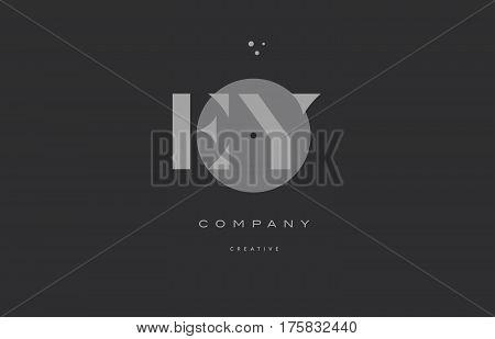 Ey E Y  Grey Modern Alphabet Company Letter Logo Icon