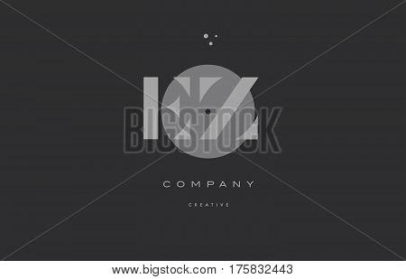 Ez E Z  Grey Modern Alphabet Company Letter Logo Icon