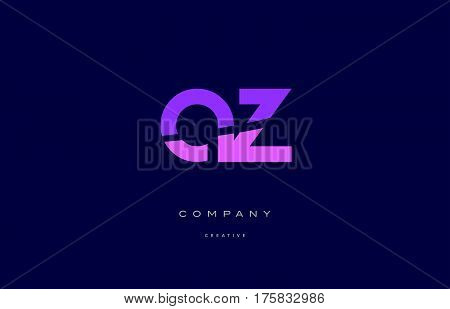 Az A Z  Pink Blue Alphabet Letter Logo Icon