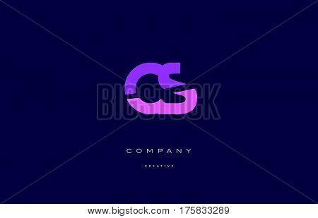 Cs C S  Pink Blue Alphabet Letter Logo Icon