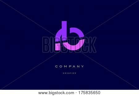 Rb R B  Pink Blue Alphabet Letter Logo Icon