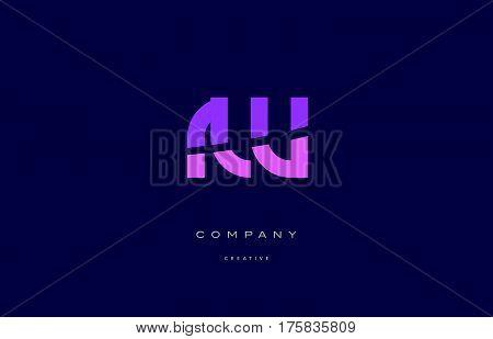 Rw R W  Pink Blue Alphabet Letter Logo Icon