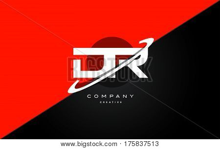 Dr D R  Red Black Technology Alphabet Company Letter Logo Icon