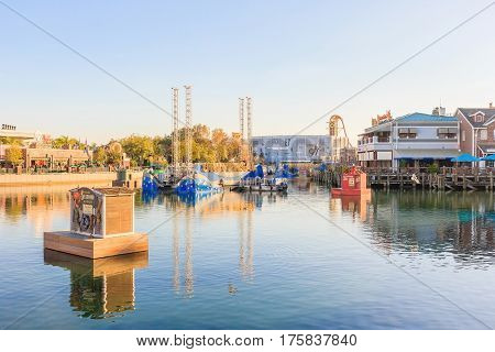 ORLANDO USA - JANUARY 05 2017: universal's cinematic spectacular - 100 Years of Movie Memories of Universal Studios Orlando. Universal Studios Orlando is a theme park resort in Orlando Florida.