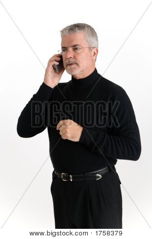 Executive Listening On A Cell Phone
