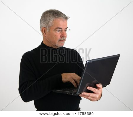Business Executive With Laptop