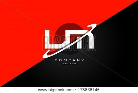 Lm L M  Red Black Technology Alphabet Company Letter Logo Icon