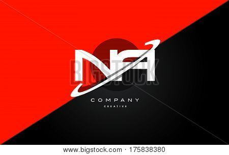 Na N A  Red Black Technology Alphabet Company Letter Logo Icon