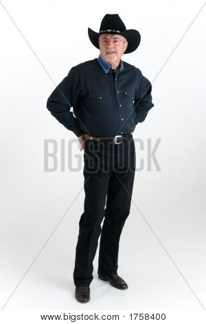 Cowboy Dressed In Denim