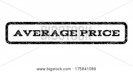 Average Price watermark stamp. Text tag inside rounded rectangle with grunge design style. Rubber seal stamp with scratched texture. Vector black ink imprint on a white background.