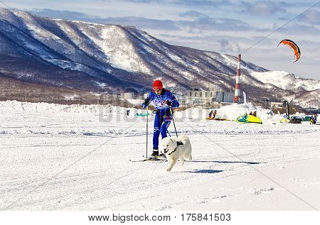 Kamchatka Russia - March 11 2017: Winter sports festival
