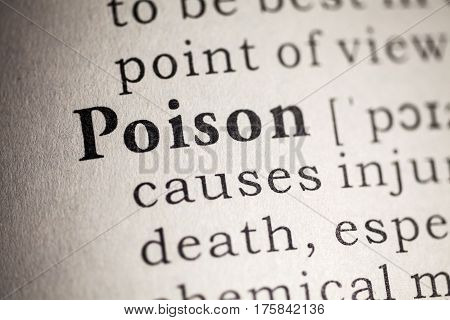 Fake Dictionary Dictionary definition of the word poison.
