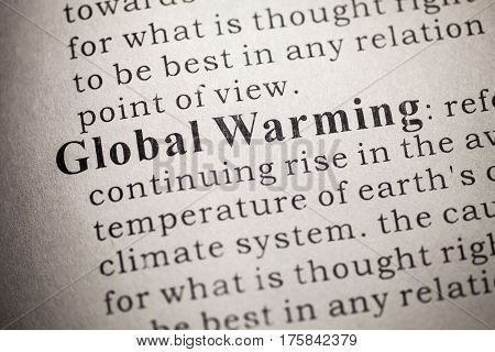 Fake Dictionary Dictionary definition of Global Warming.