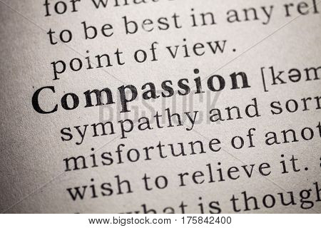 Fake Dictionary Dictionary definition of the compassion.