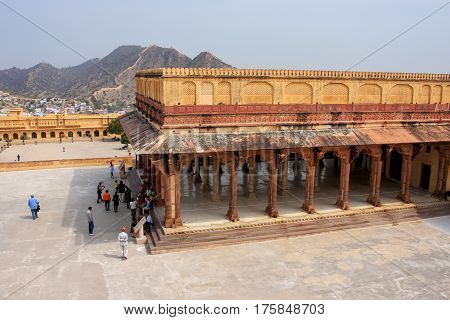 Diwan-i-am - Hall Of Public Audience In Amber Fort,  Rajasthan, India